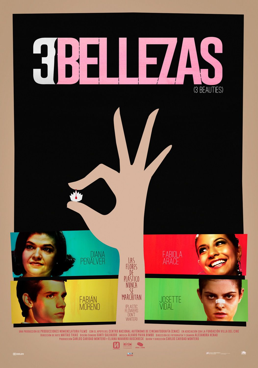 3 Bellezas - 3 Beauties - 3 Bellezze - Diana Penalver - comedy film poster 2018
