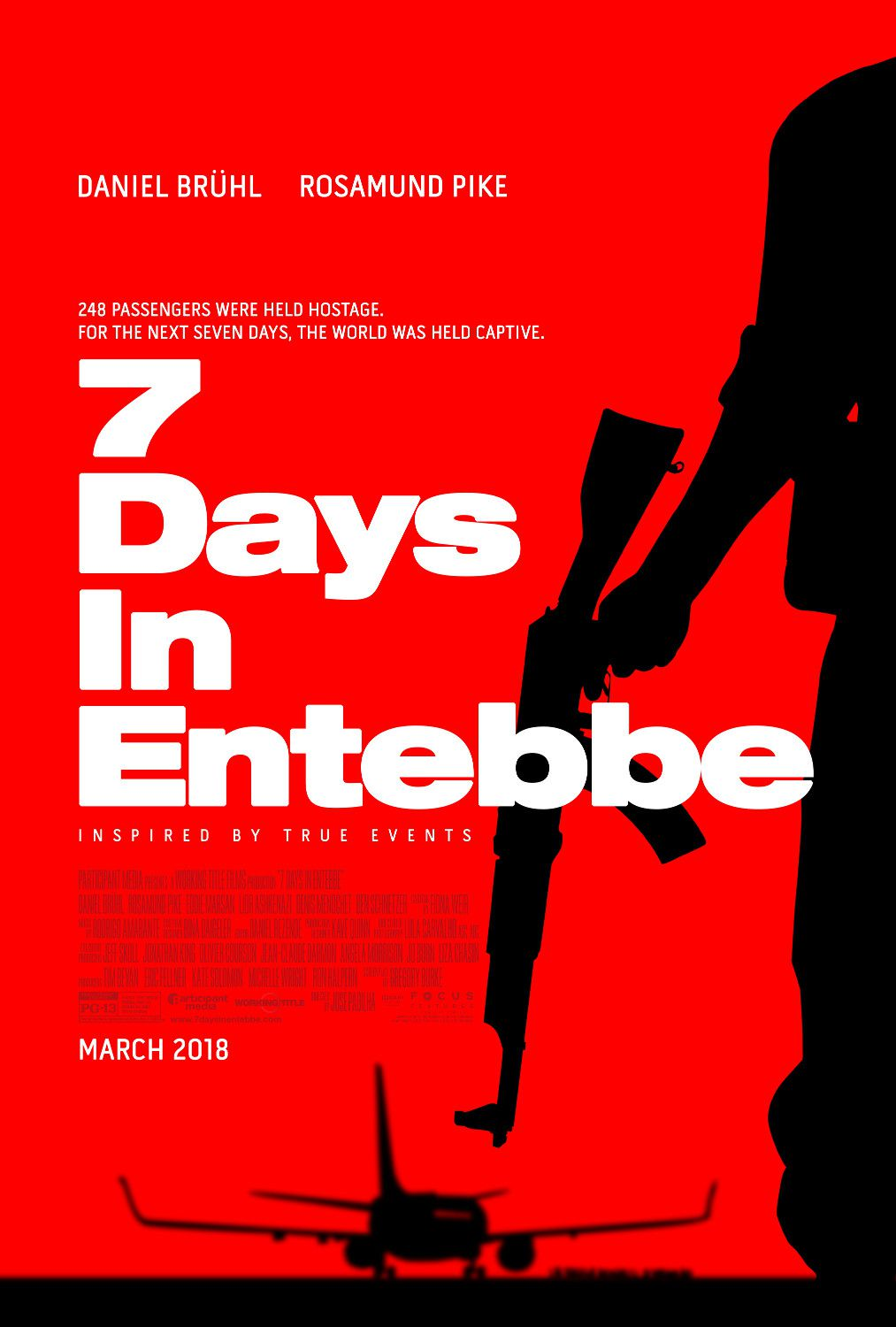 7 Days in Entebbe - film poster 2018