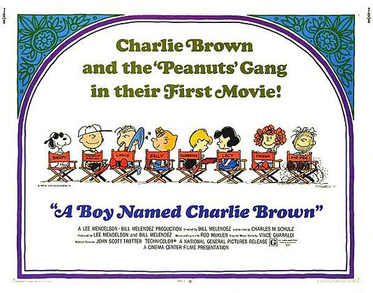 A Boy named Charlie Brown (1969) - classic cartoon film poster