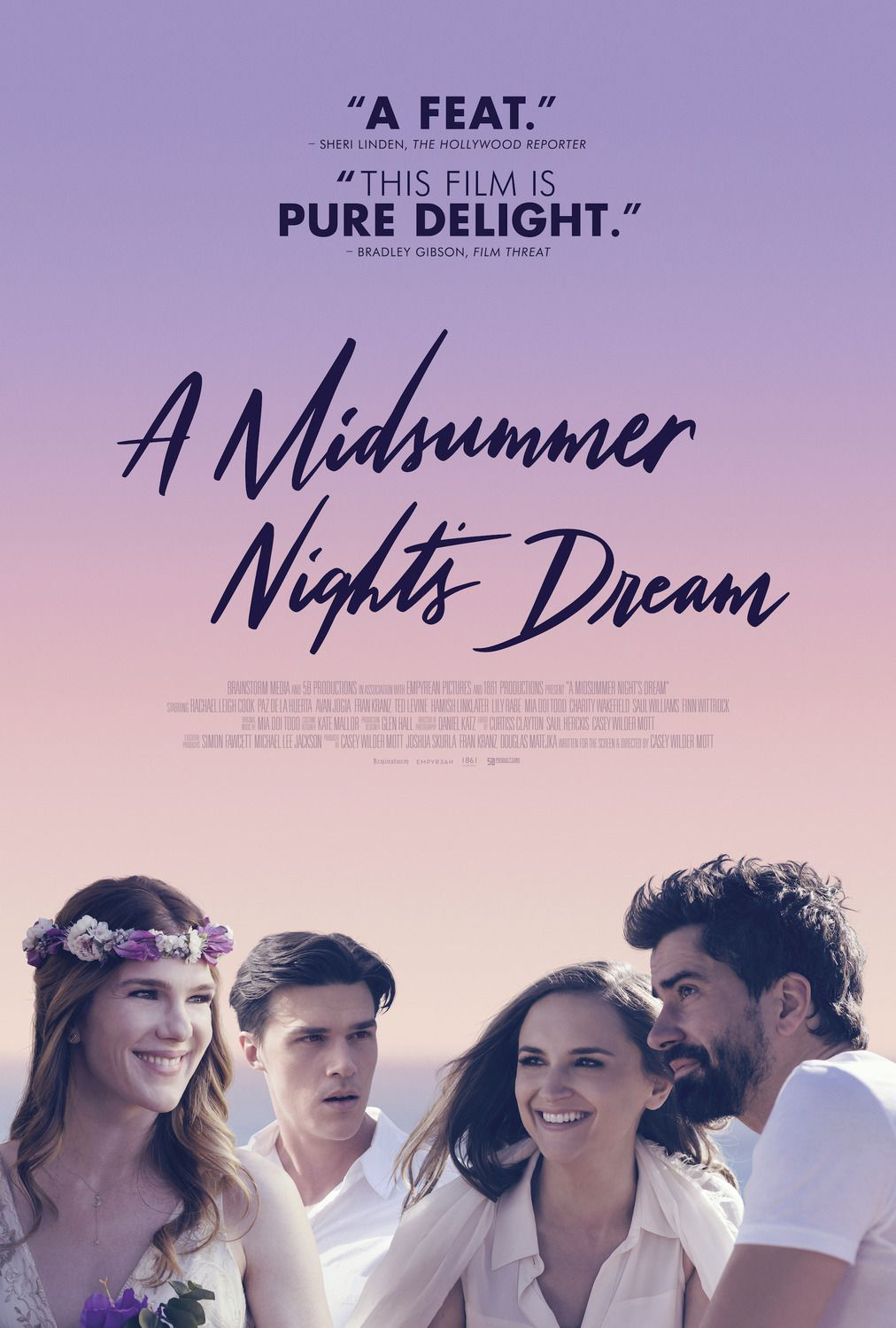 A Midsummer Nights Dream (2018) - Cast: Lily Rabe, Hamish Linklater, Rachael Leigh Cook, Finn Wittrock - film poster
