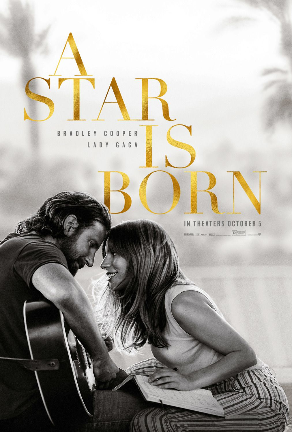 A Star is Born (2018) - Life of Lady Gaga film poster