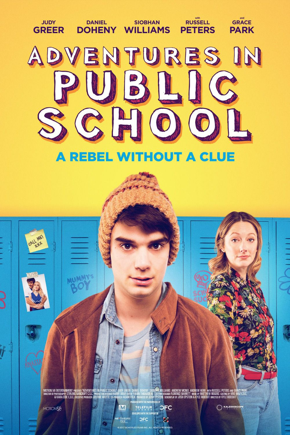 Adventures in Public School - Rebel without a Clue - Cast: Judy Greer, Daniel Doherty, Siobhan Williams, Russell Peters, Grace Park - poster