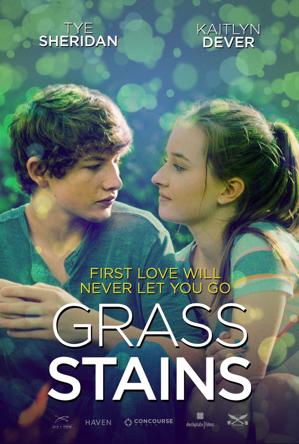 All Summers End - Grass Stains - first Love will never let you go - Cast: Tye Sheridan, Kaitlyn Dever, Annabeth Gish, Ryan Lee - love story film poster