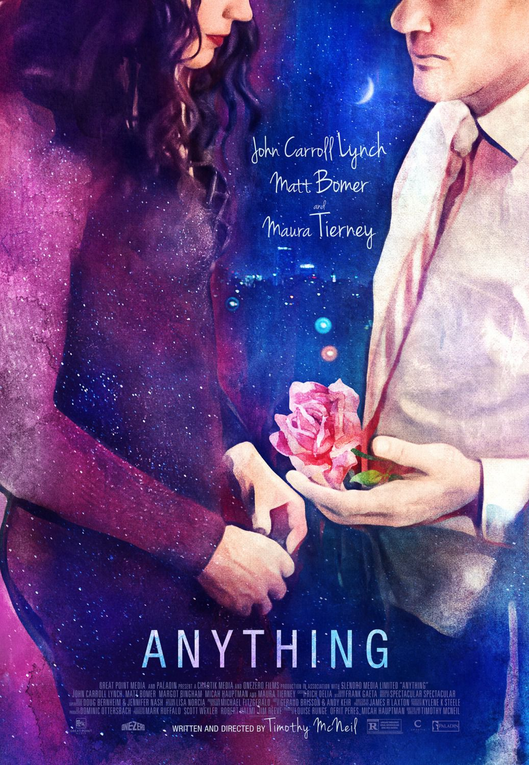 Anything - Cast: John Carroll Lynch, Matt Bomer, Maura Tierney - love poster film rose