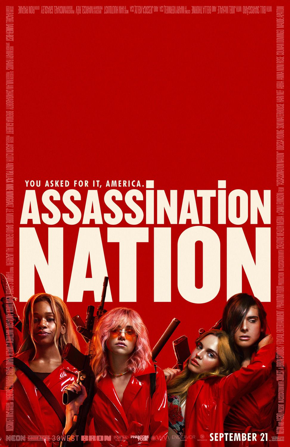 Assassination Nation (2018) - Cast: Odessa Young, Hari Nef, Abra, Suki Waterhouse - film poster