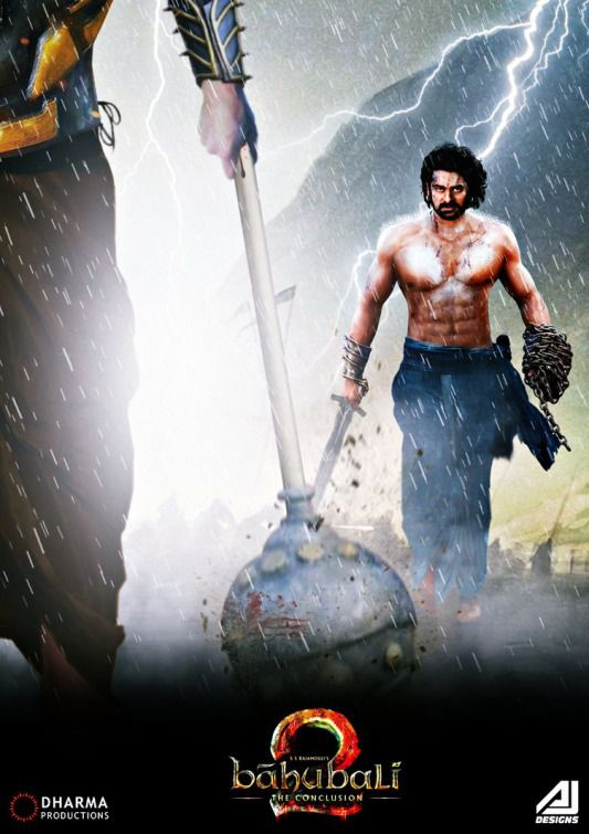 Baahubali 2 the conclusion - film poster - iron ball battle