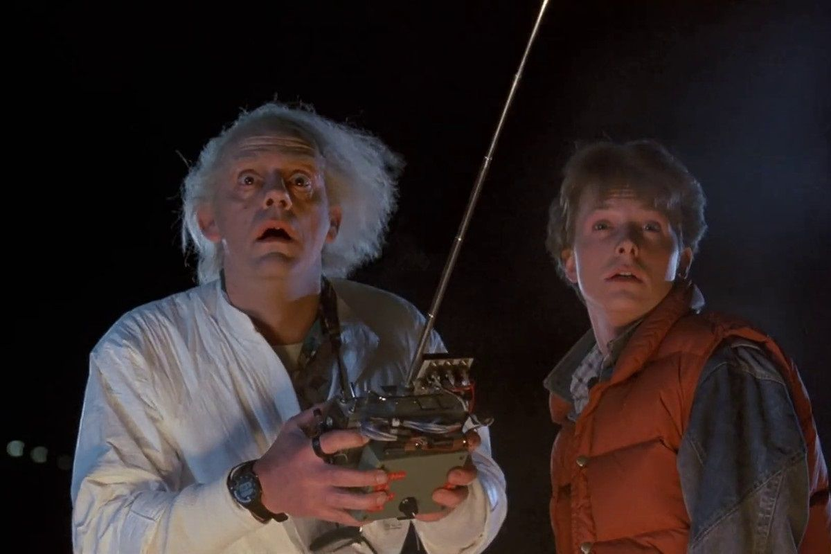 Back To The Future 1985 by Robert Zemeckis with Michael J. Fox and Christopher Lloyd Classic Cult Movie