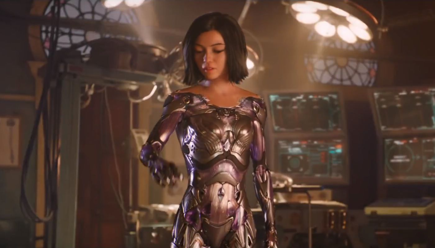 Battle Angel Alita new body armour cyborg 2018 live action film