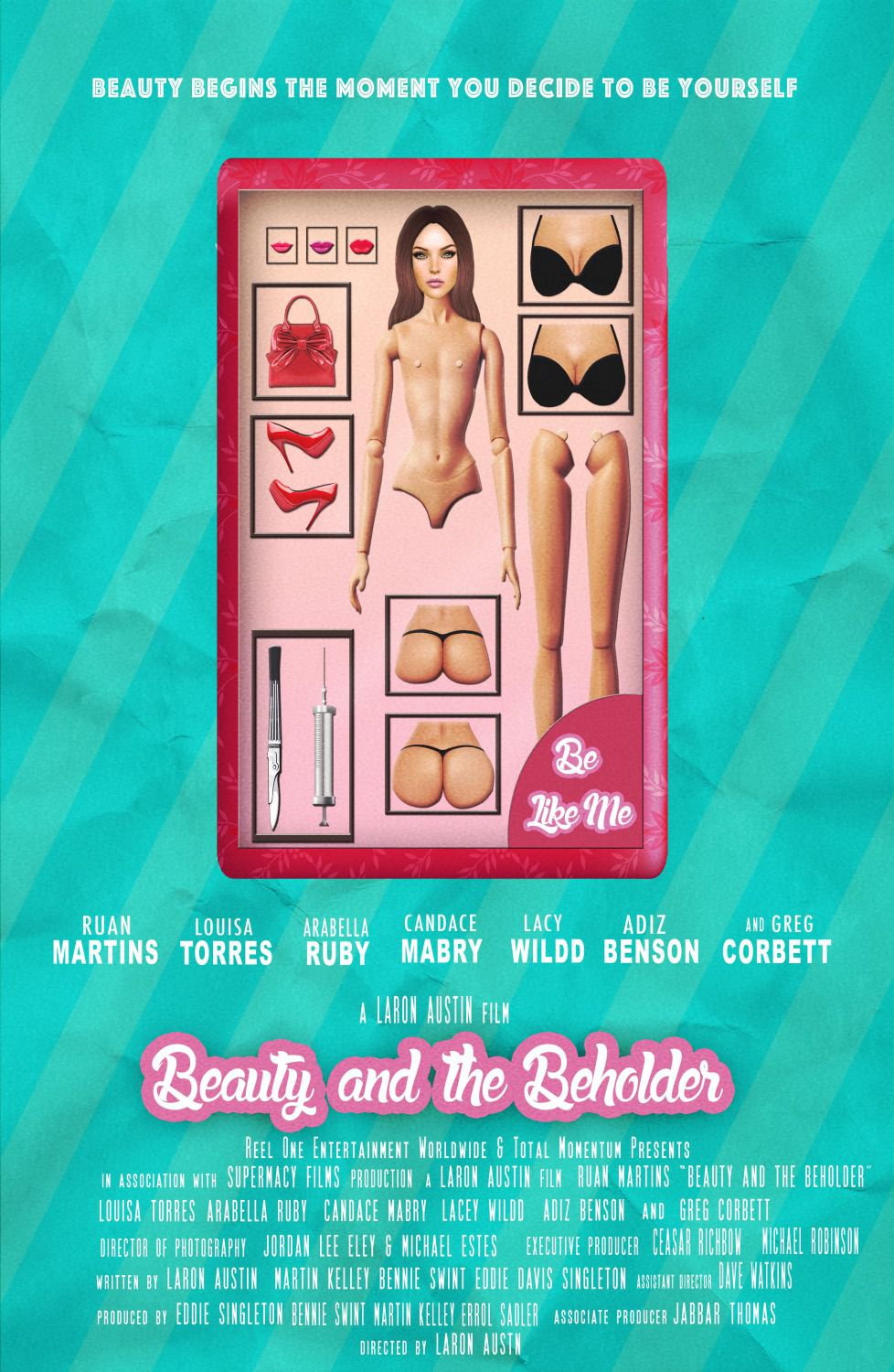 Beauty and the Beholder - Cast: Ruan Martins, Louisa Torres, Arabella Ruby, Candace Mabry, Lacy Wildd, Adiz Benson, Greg Corbett - film poster