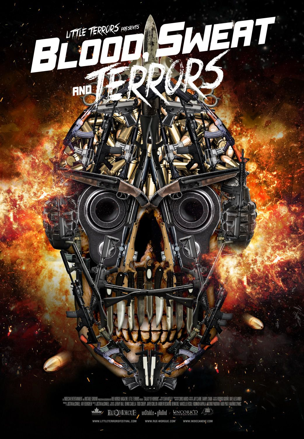 Blood Sweat and Terrors - film bullets skull poster
