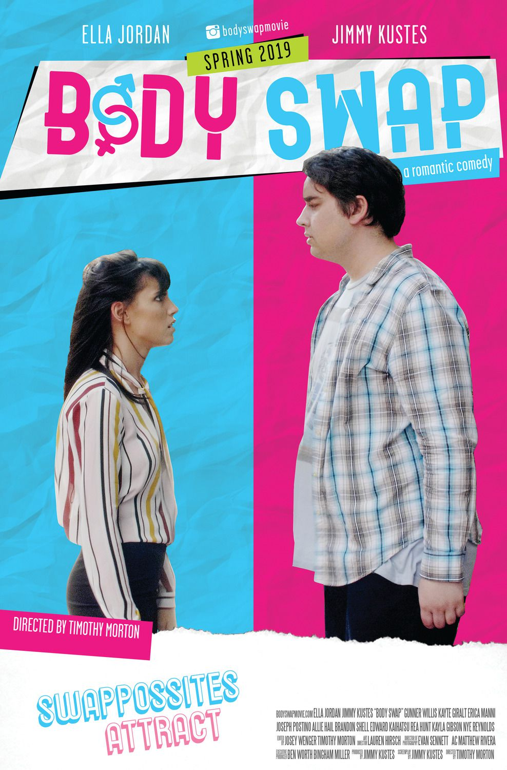 Body Swap (2019) - Swappossites attract a romantic comedy - Ella Jordan, Jimmy Kustes - film poster
