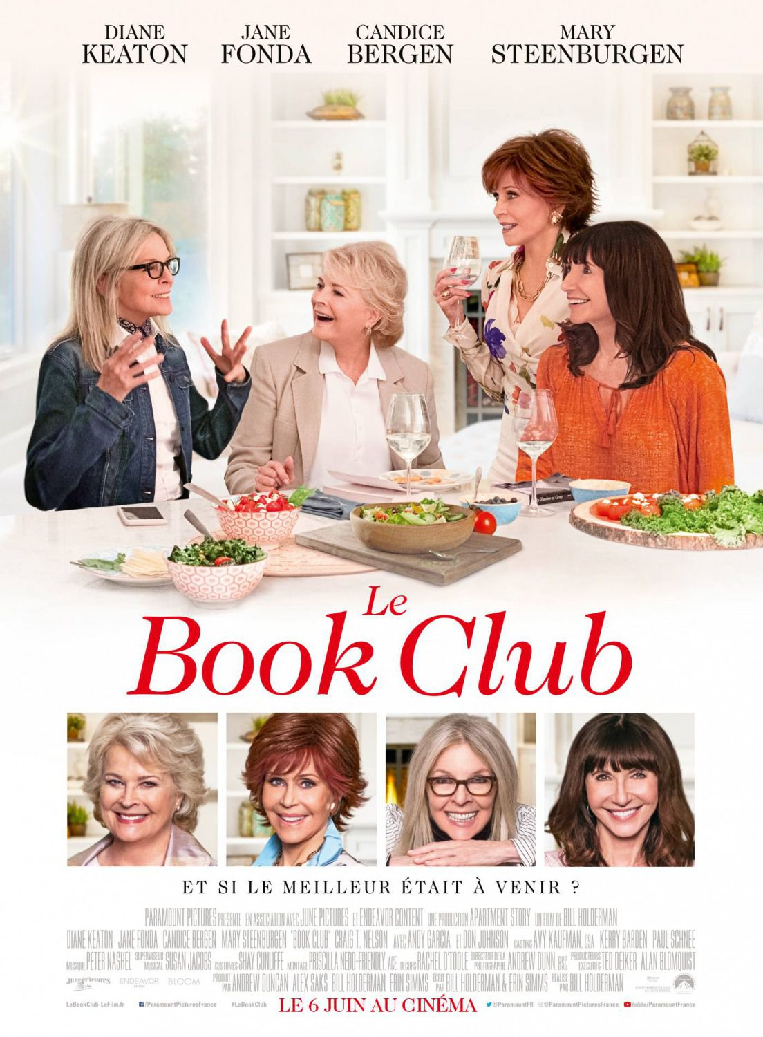 Book Club - Diane Keaton, Jane Fonda, Candice Bergen, Mary Steenburgen - comedy film poster 2018