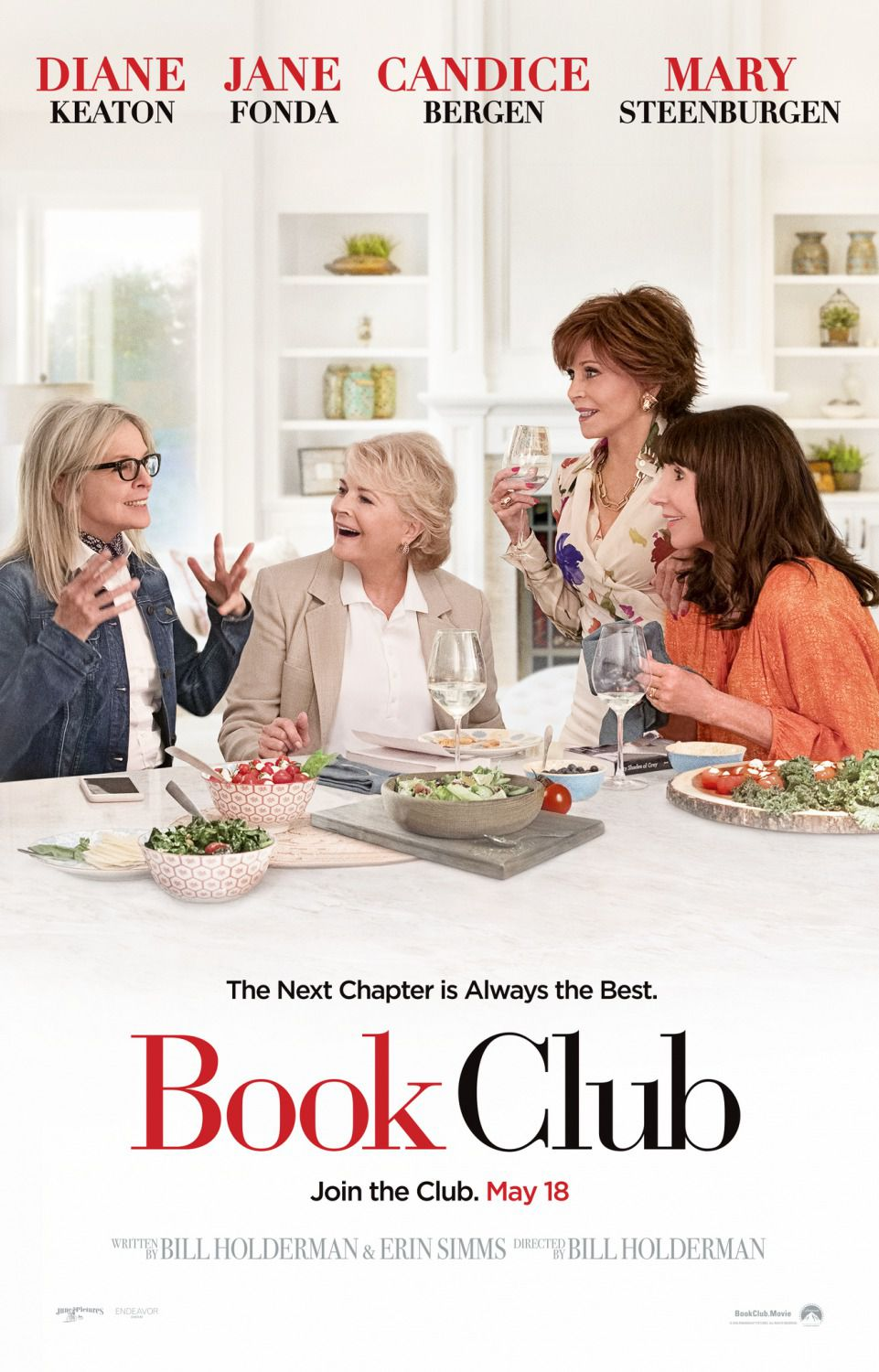 Book Club - Diane Keaton, Jane Fonda, Candice Bergen, Mary Steenburgen - poster 2018