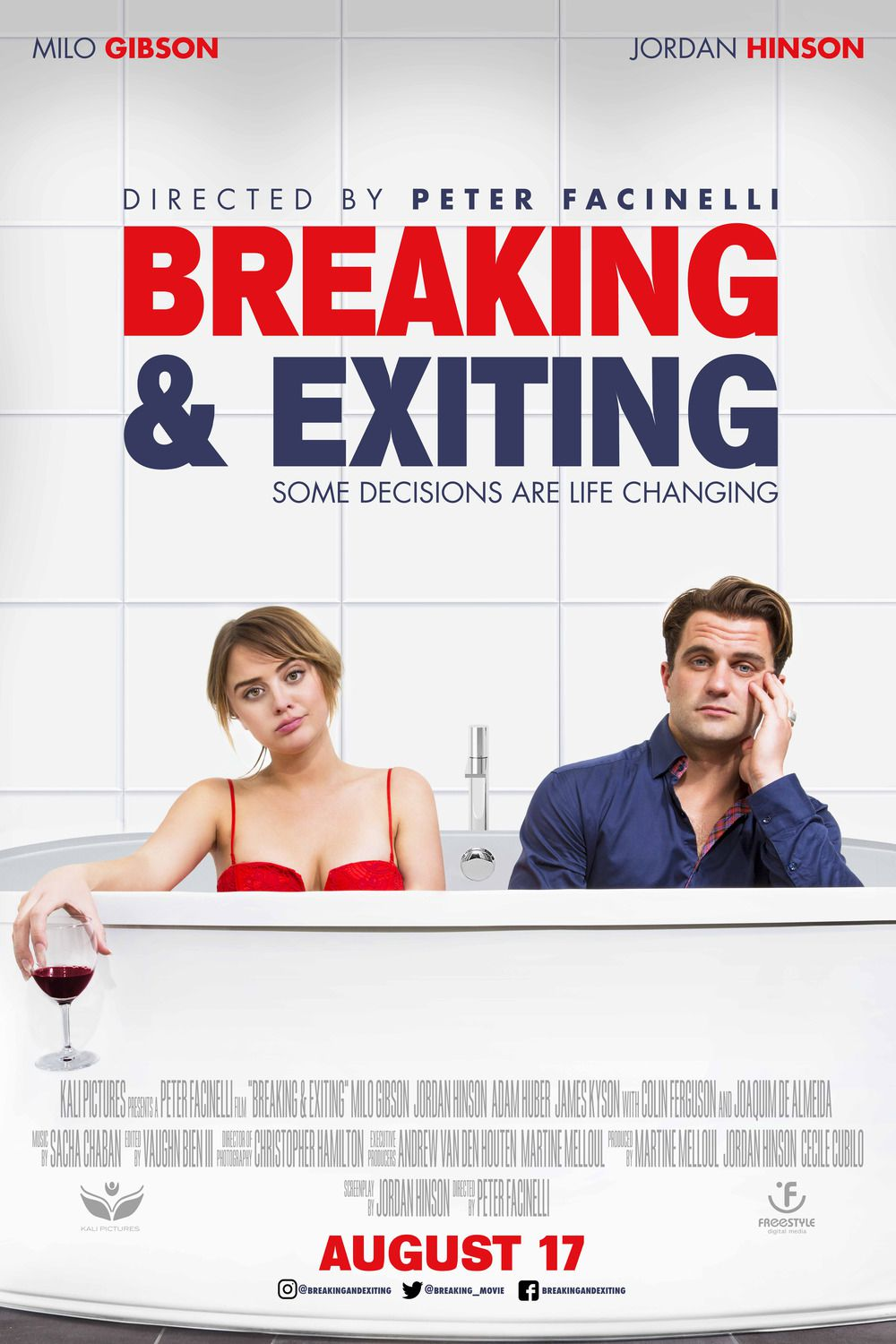 Breaking and Exiting - Milo Gibson, Jordan Hinson film poster