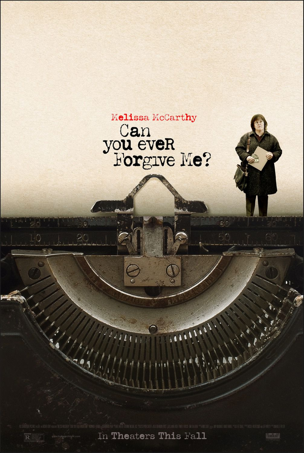 Can You Ever Forgive me - Potrai mai Perdonarmi - Cast: Melissa McCarthy - typewriter film poster 2018