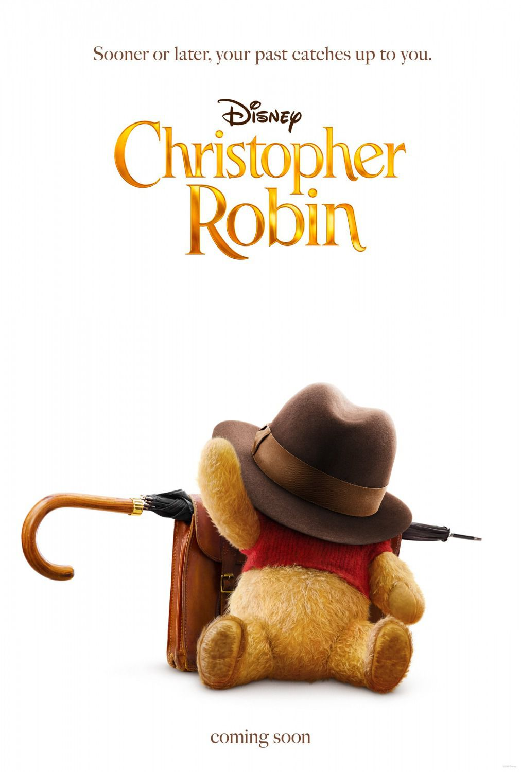 Christopher Robin (2018) - Pooh, umbrella, bag and big hat