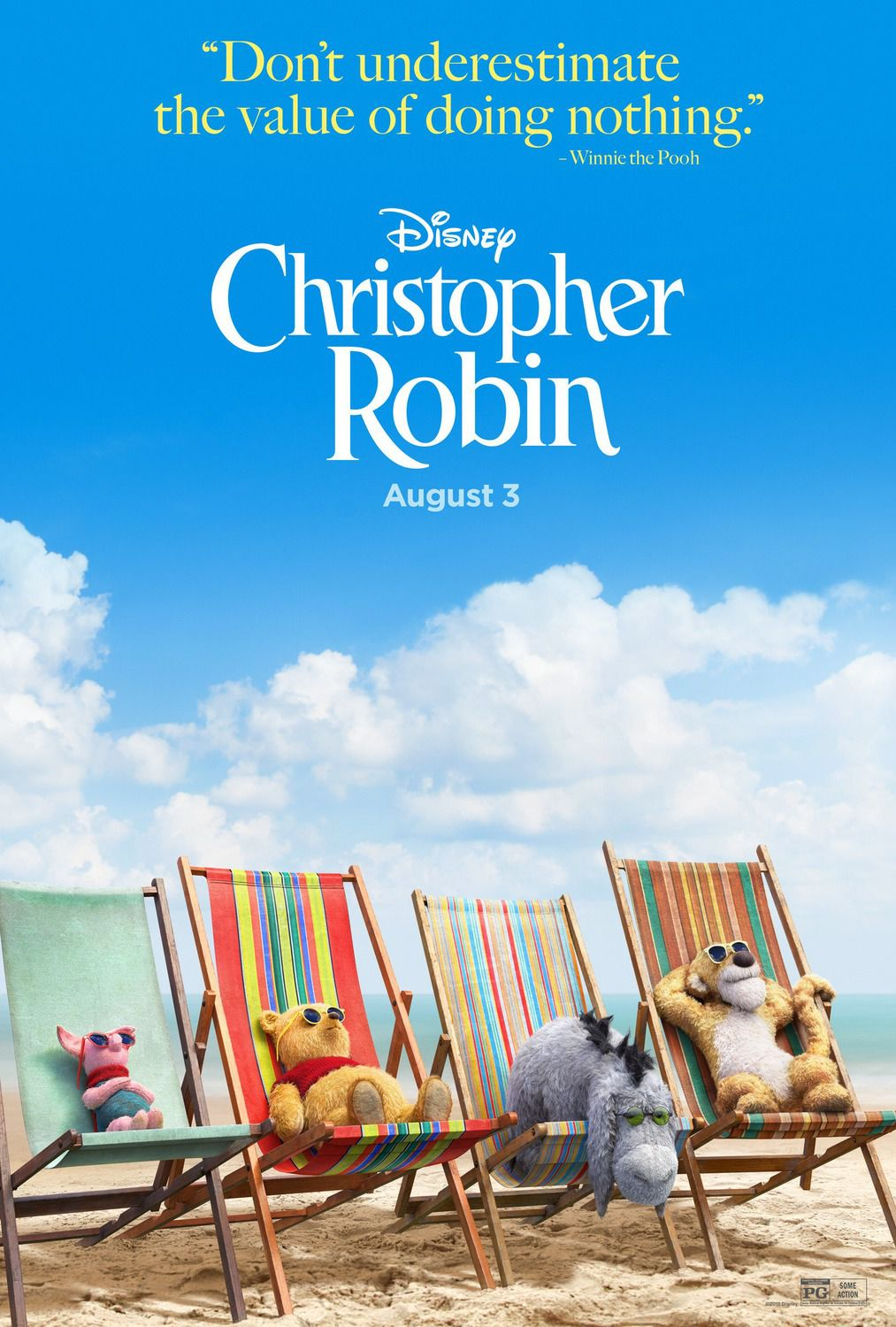Christopher Robin (2018) Cast: Ewan McGregor, Jim Cummings, Hayley Atwell, Bronte Carmichael - live action film poster