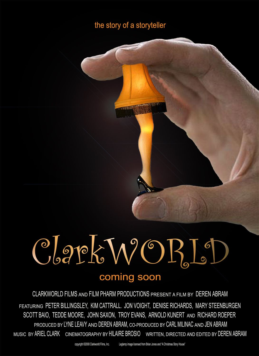 Clarkworld (2009) - Cast: Bob Clark, Kim Cattrall, Jon Voight, Mary Steenburgen - film poster