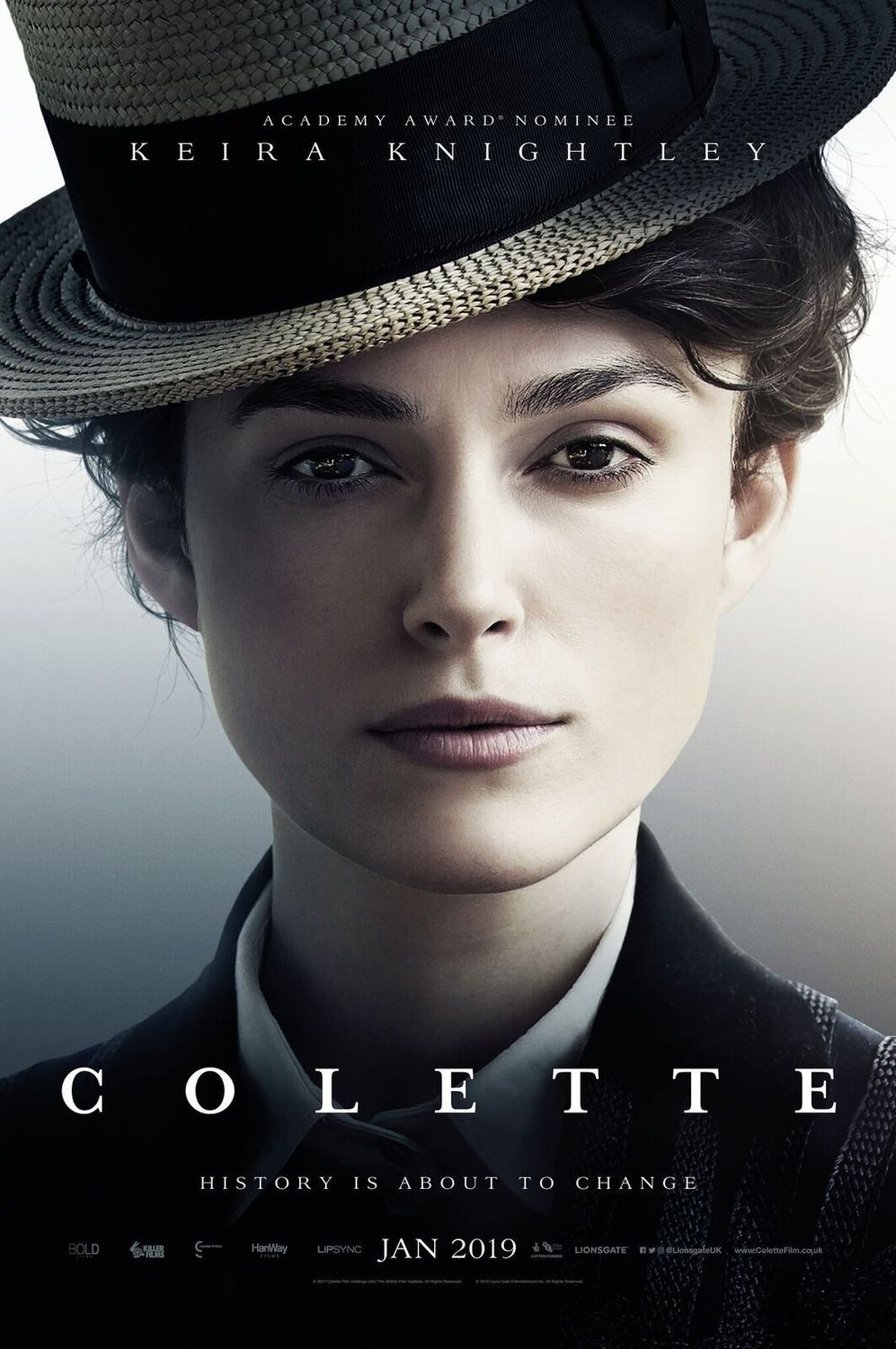 Colette (2018 Keira Knightley - poster