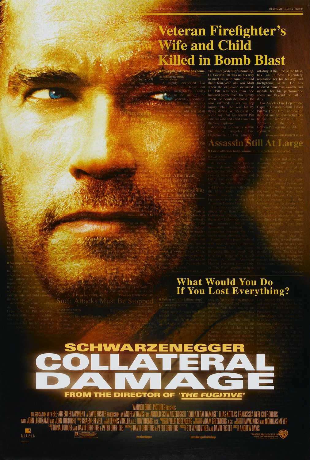 Collateral Damage (2002) - action film poster