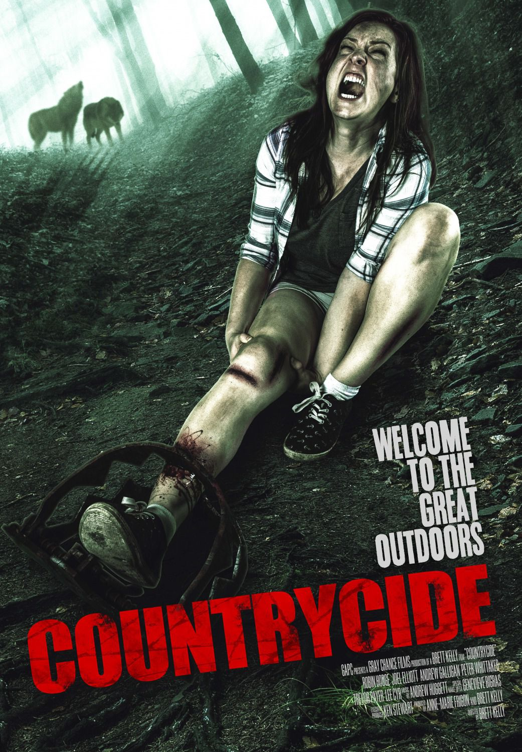 Countrycide - Welcome to the great outdoors - Cast: Robin Hodge, Joel Elliott, Andrew Galligan, Peter Whittaker - film poster