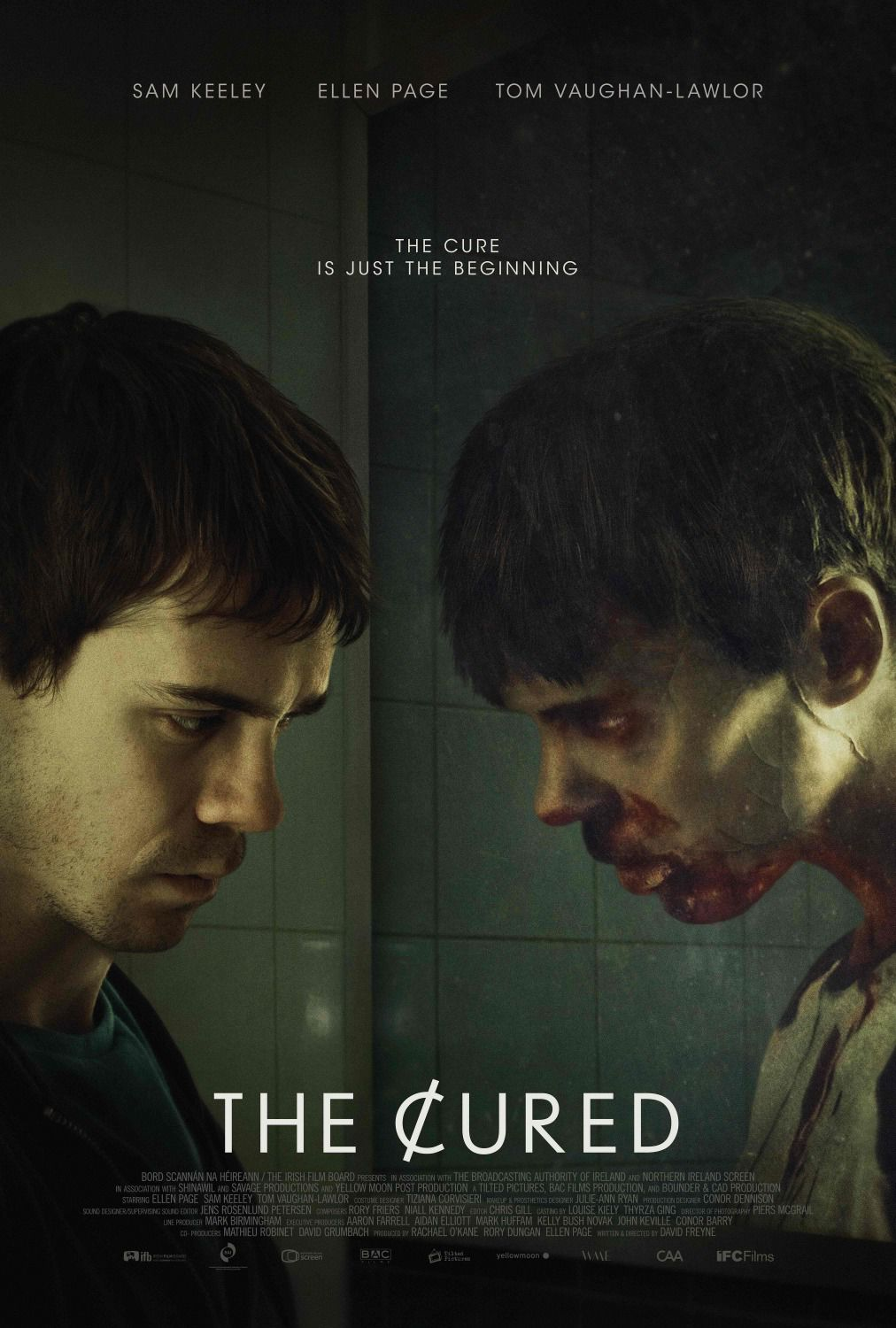 Cured - Sam Keeley, Ellen Page, Tom Vaughan Lawlor - film poster