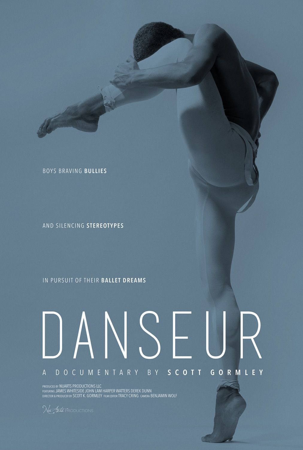 Danseur - Documentary Film - Boys braving bullies and silencing stereotypes in pursuit of their ballet dreams - poster 2018