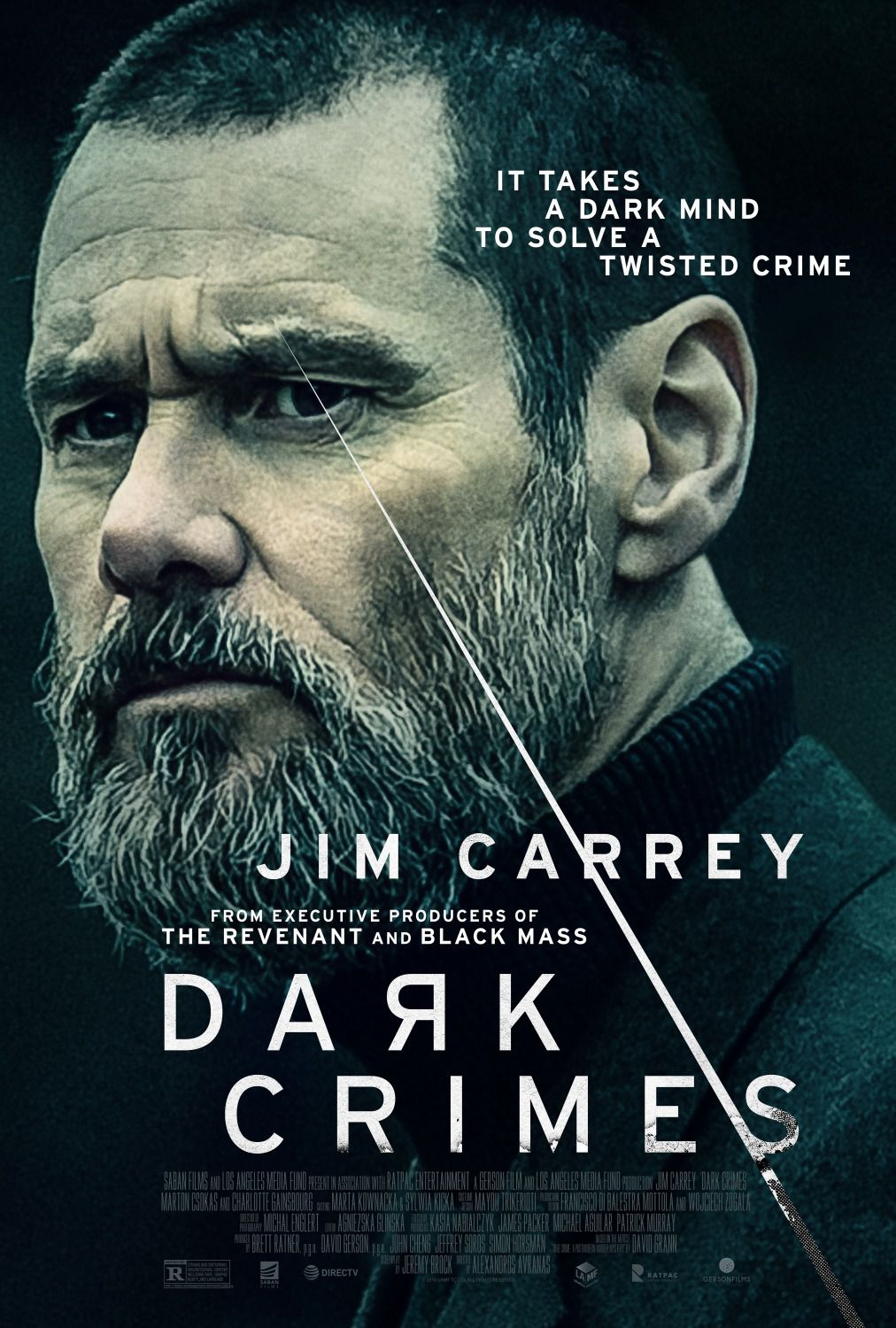 Dark Crimes - It takes a dark mind to solve a twisted crime - Cast: Jim Carrey, Charlotte Gainsbourg, Kati Outinen, Marton Csokas 2018