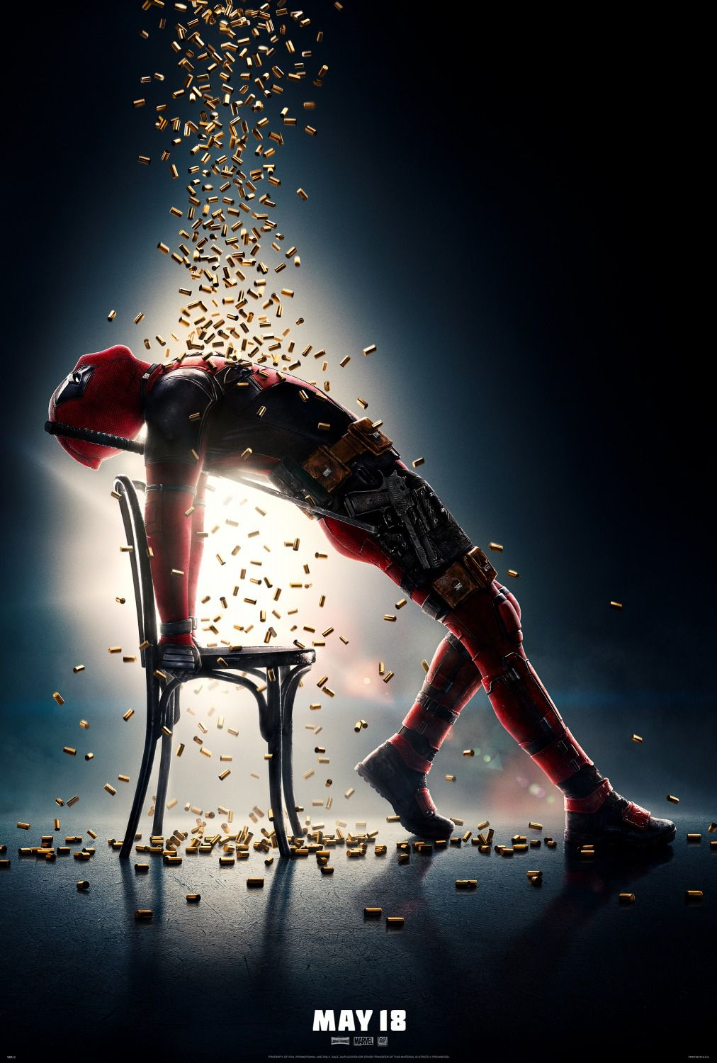 Deadpool 2 - poster - bullets rain - Ryan Reynolds