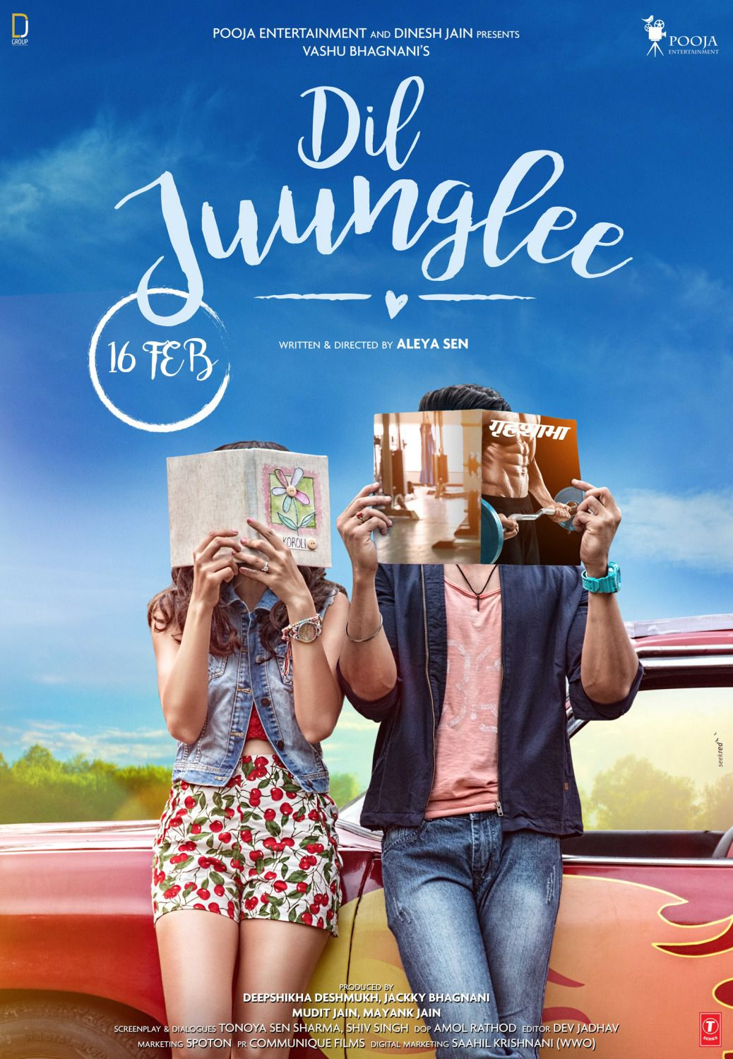 Dil Juunglee - Love Comedy Film Poster - book and magazine