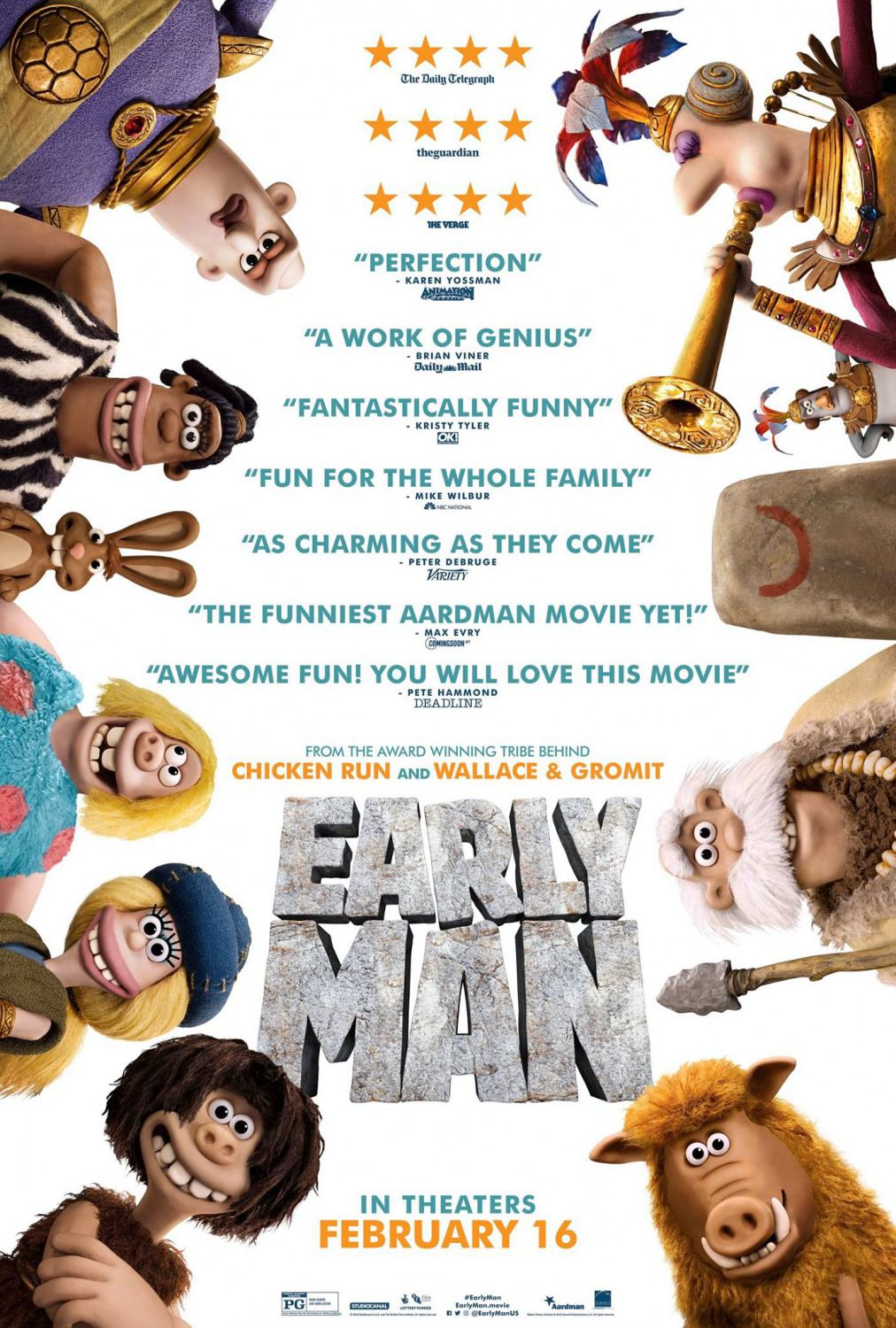 Early Man - Cavernicoli - Bronze and Stone Age - Bronzo e Pietra - animated cartoon film poster