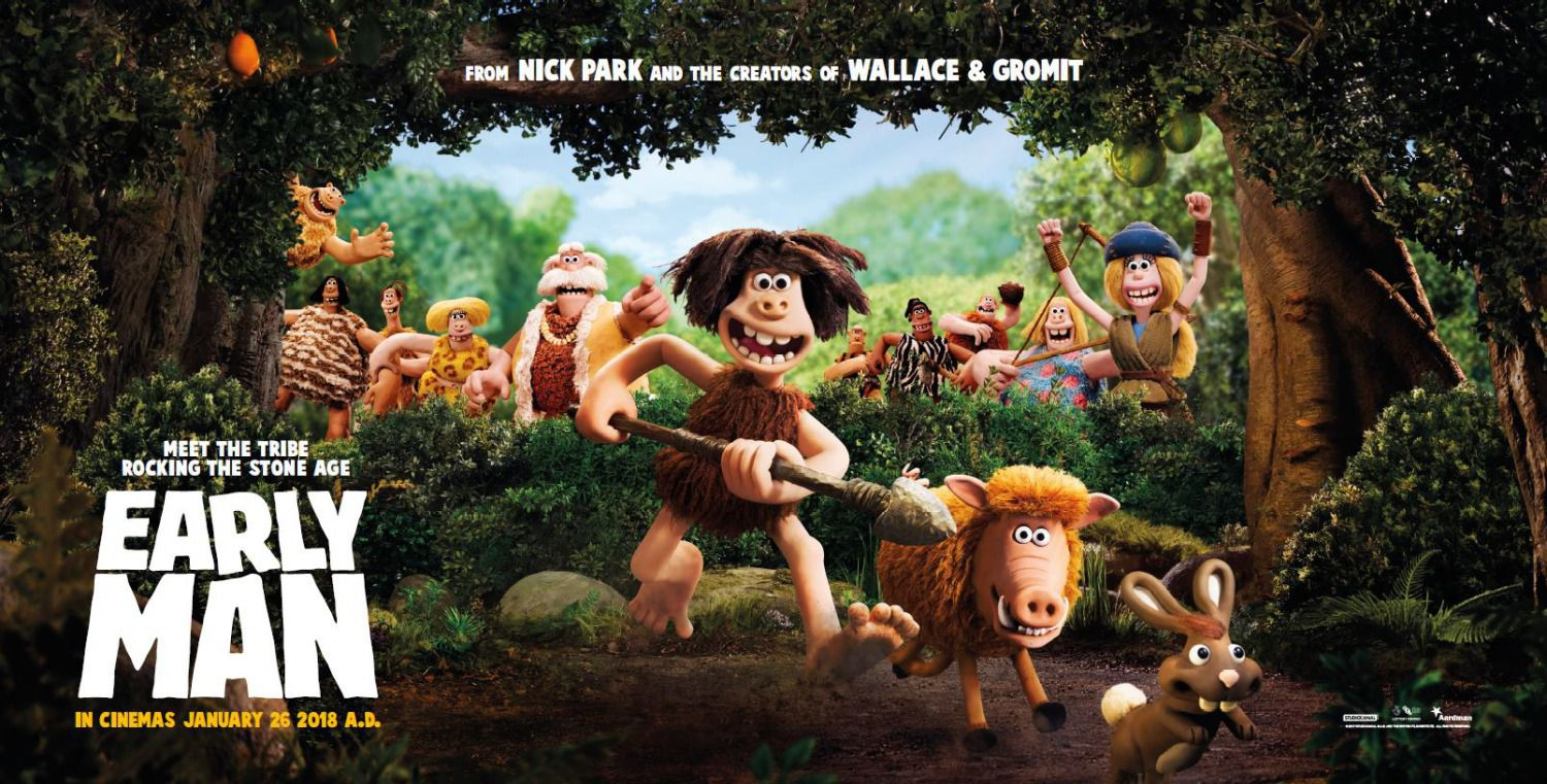 Early Man - animated film banner 2018 - stone life