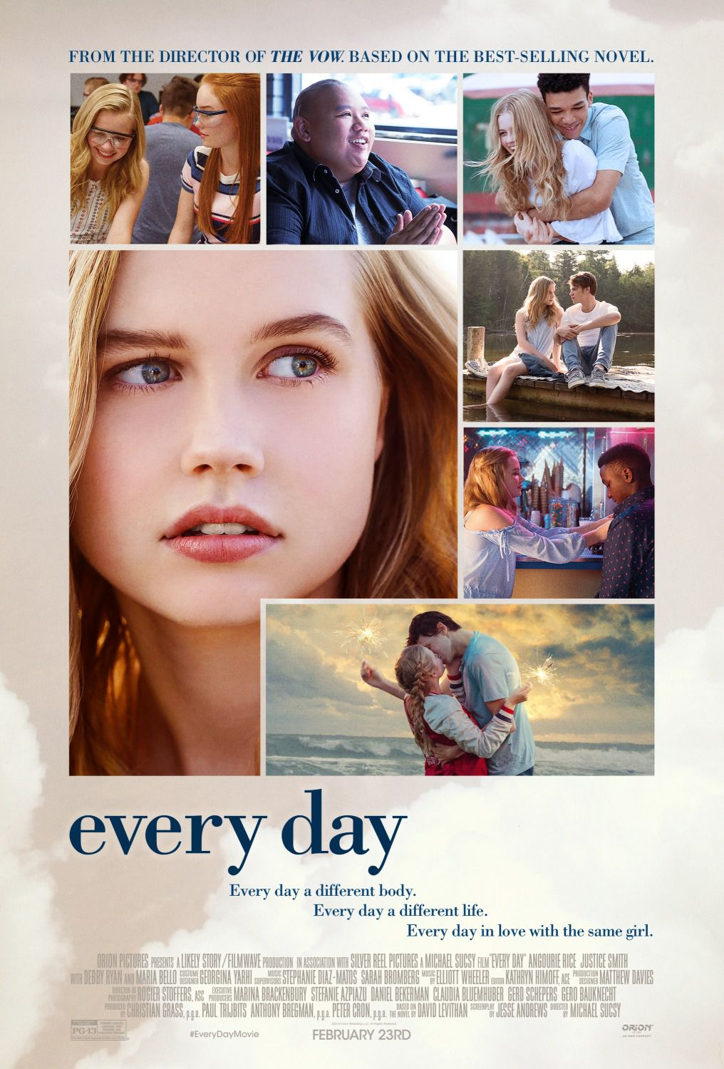 Every Day - Angourie Rice, Maria Bello - film poster love story 2018
