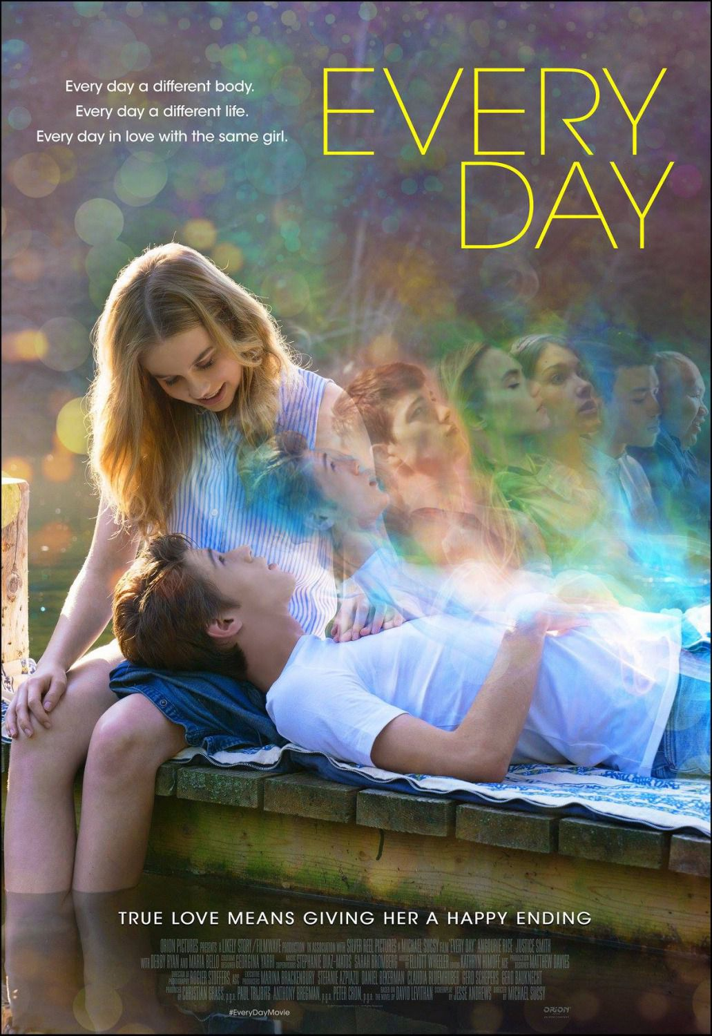 Every Day a different body, Every Day a different life, Every Day in Love with the same Girl - Angourie Rice, Maria Bello - film poster 2018