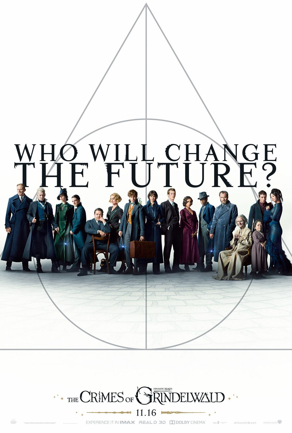 Fantastic Beasts the Crimes of Grindelwald 2018 Eddie Redmayne, Johnny Depp, Ezra Miller, Katherine Waterston fantasy film poster