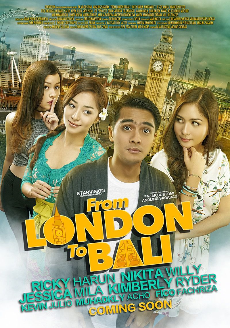 From London to Bali - love comedy film poster