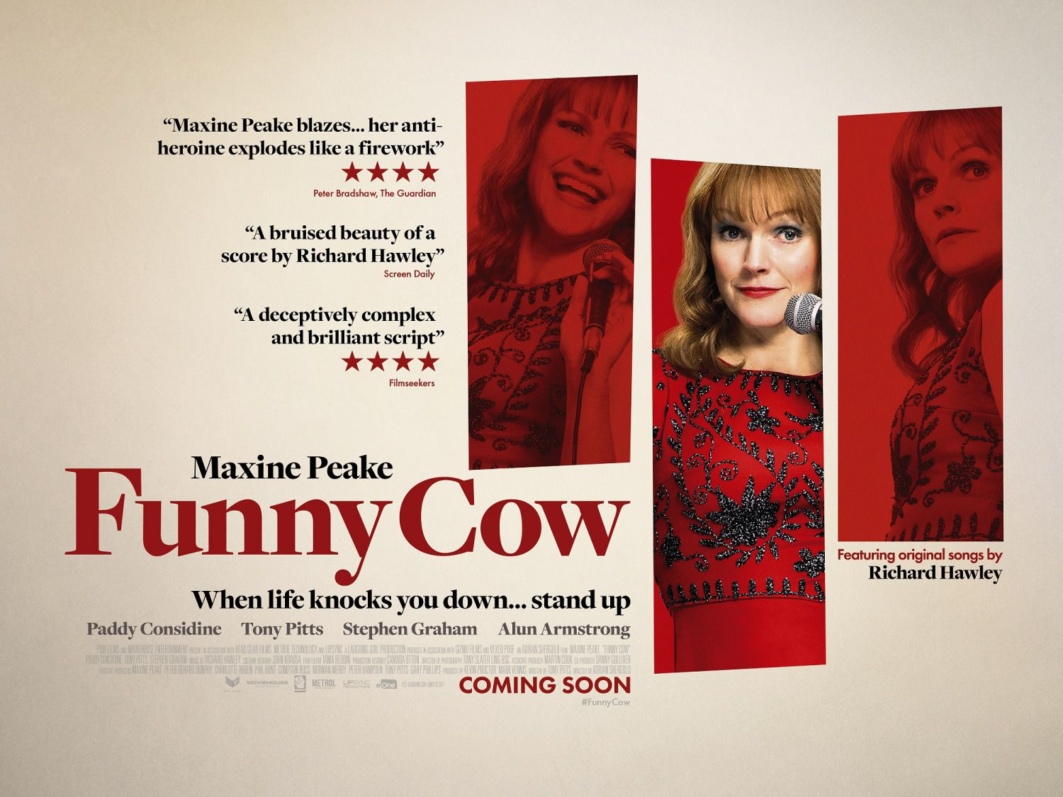 Funny Cow - When Life Knocks you down, stand up by Maxine Peake - Cast: Paddy Considine, Tony Pitts, Stephen Graham, Alun Armstrong - film poster