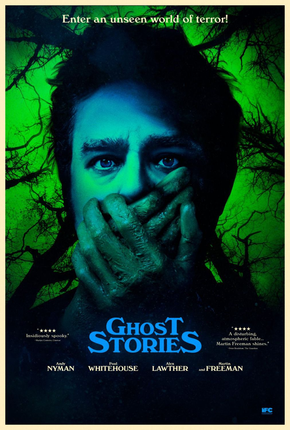 Ghost Stories - 2018 - Enter an unseen world of terror - horror film poster - Silence
