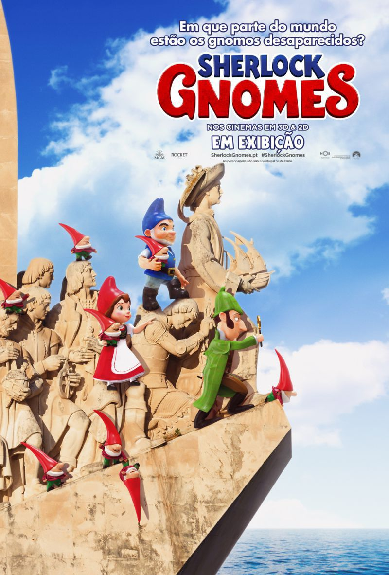 Gnomeo and Juliet Sherlock Gnomes - animated film poster
