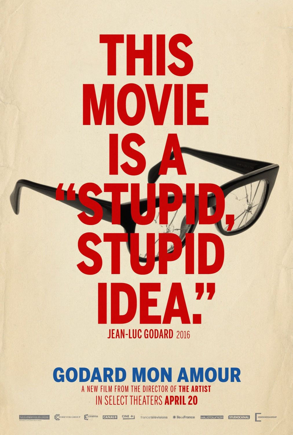 Godard Mon Amour - this movie is a Stupid, Stupid Idea - film poster