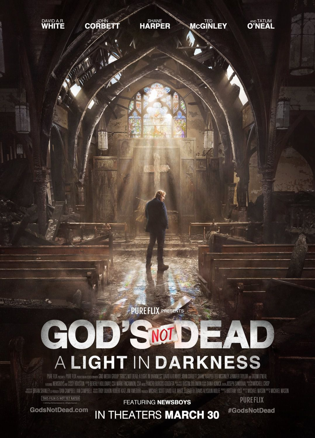 Gods not Dead a Light in Darkness - David A R White, John Corbett, Shane Harper, Ted McGinley, Tatum O Neal