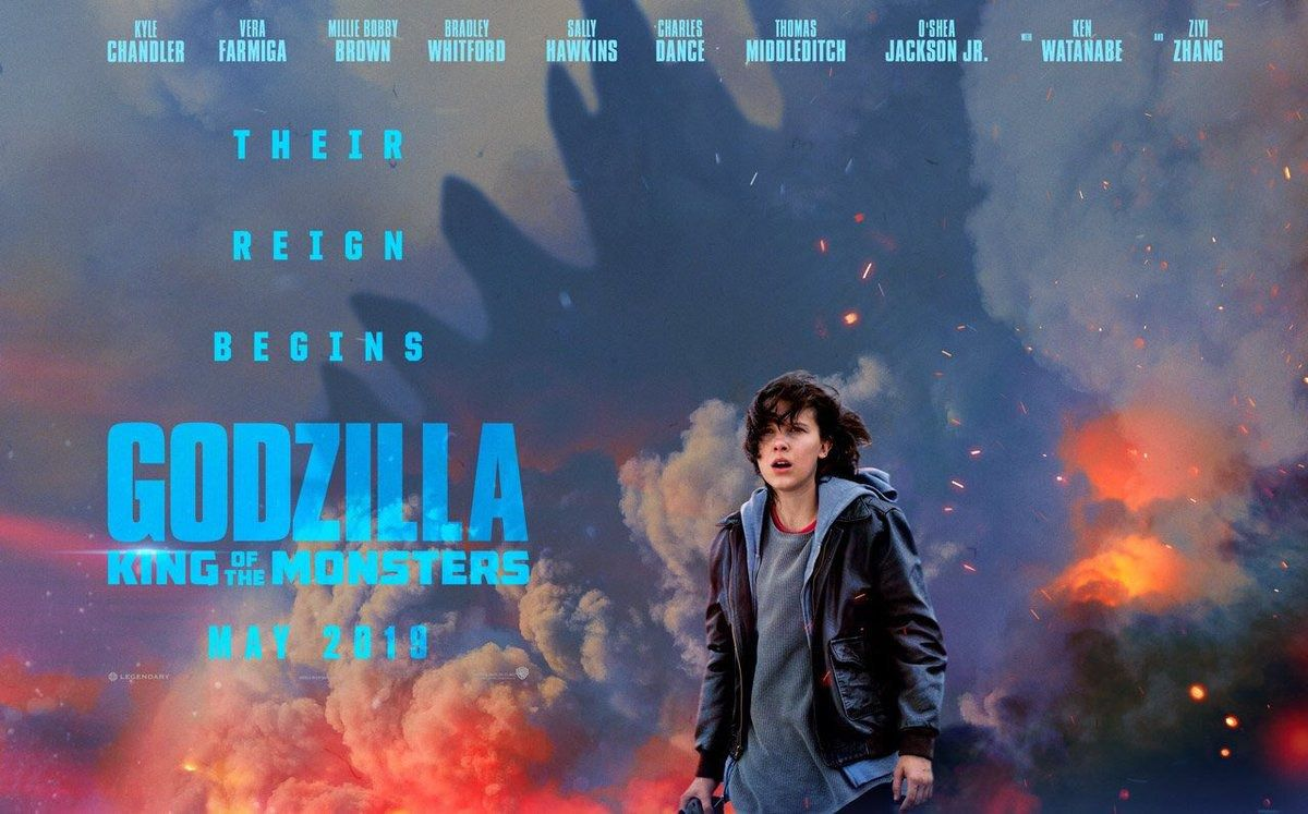 Godzilla King of the Monsters (2019) con la partecipaizone di Millie Bobby Brown (Number 9 in Stranger Things)