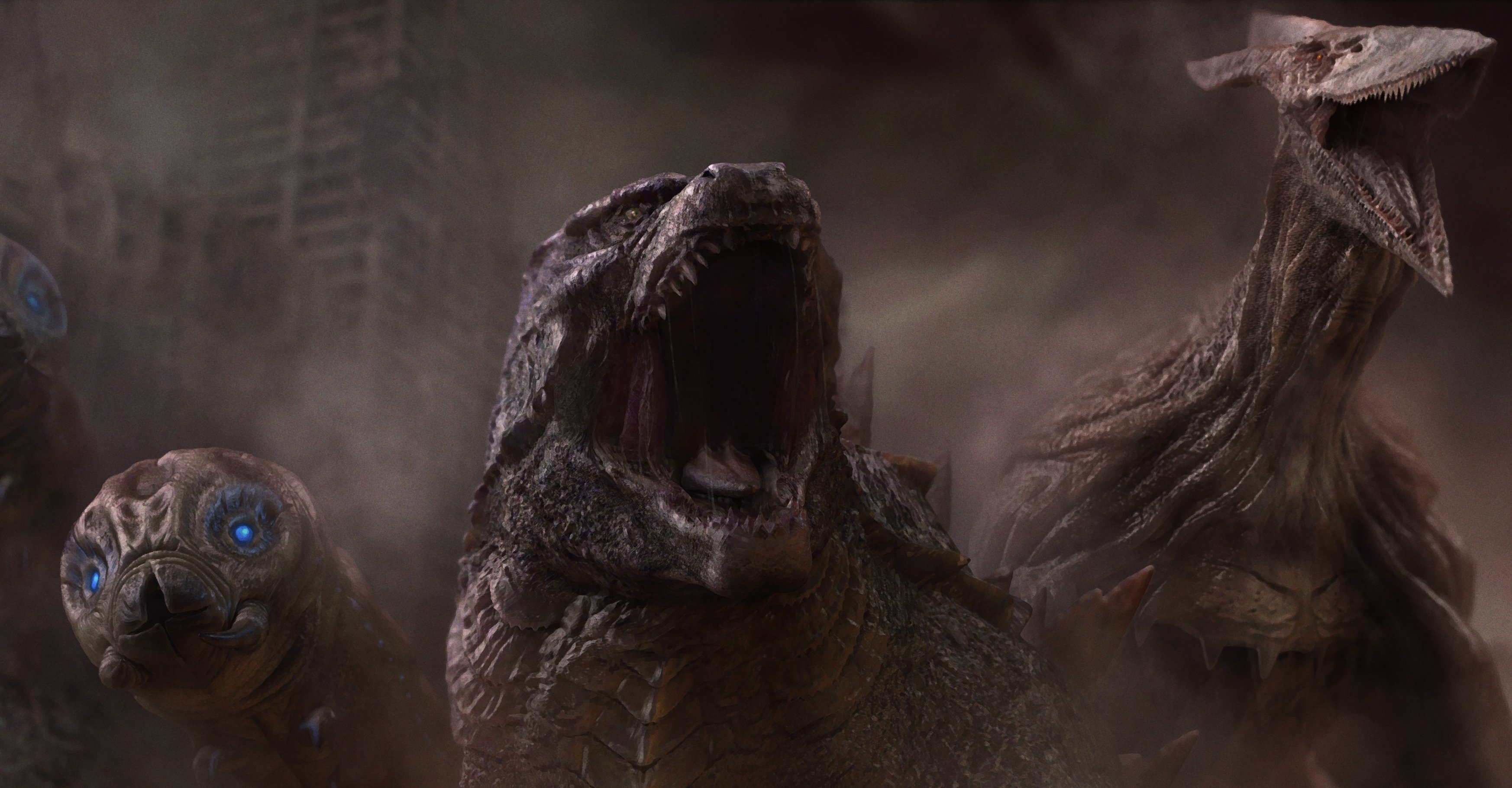 Godzilla King of the Monsters (2019) - roar scene