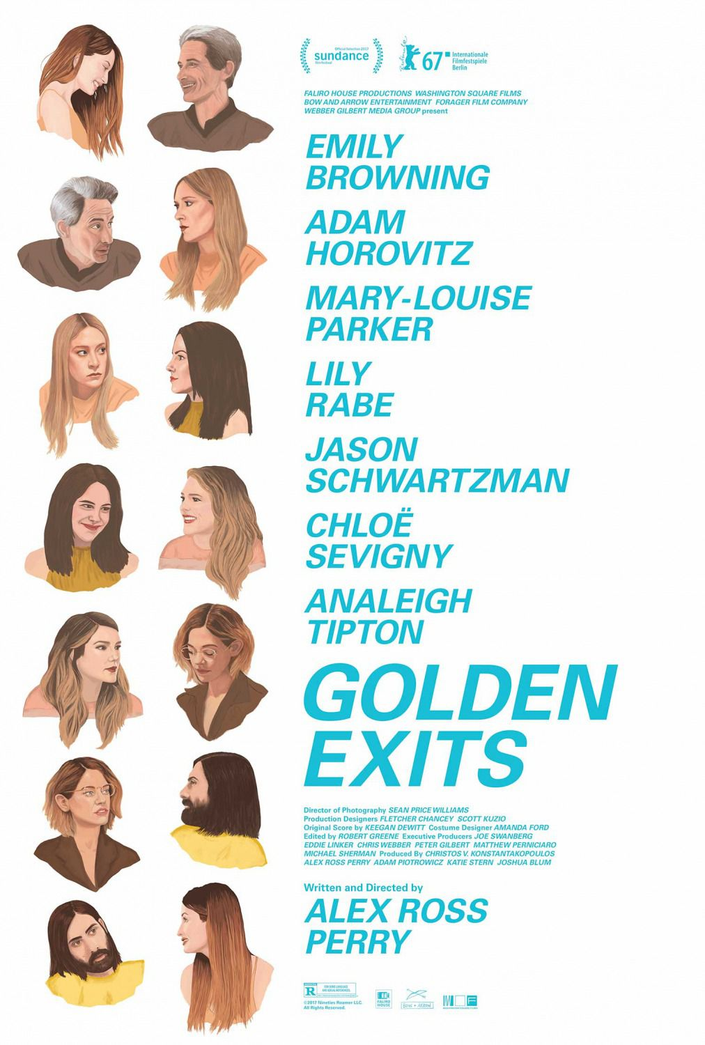 Golden Exits - Emily Browning, Adam Horovitz, Mary Louise Parker, Lily Rabe, Jason Schwartzman, Chloe Sevigny, Analeigh Tipton - poster 2018