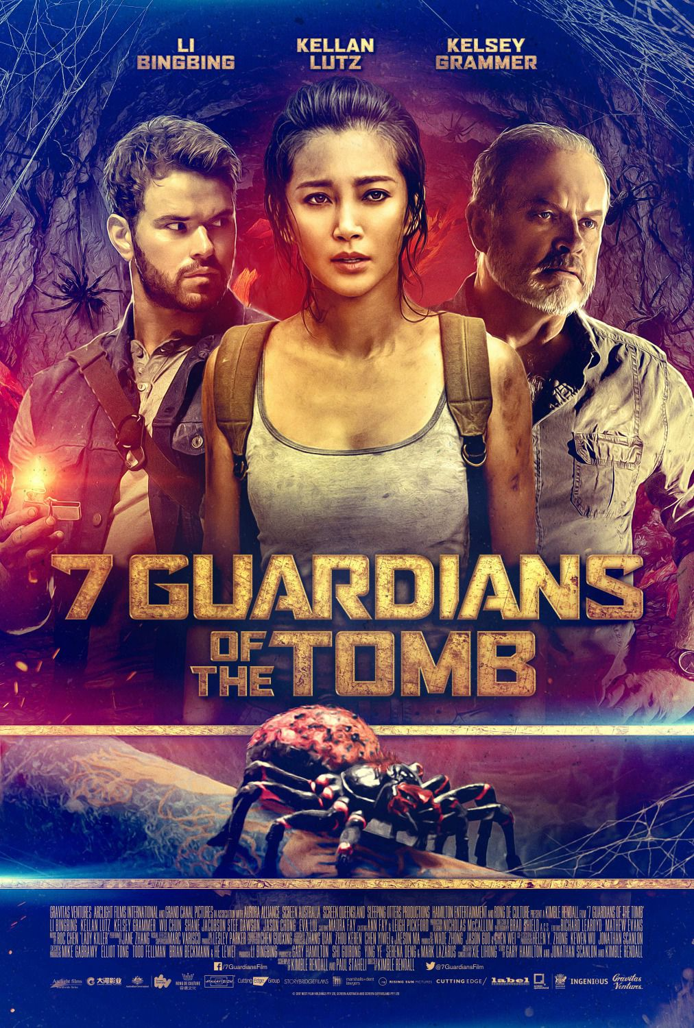 7 Guardians of the Tomb - Sette Guardiani by Kimble Rendall - Kelsey Grammer, Kellan Lutz, Bingbing Li  - film poster 2018