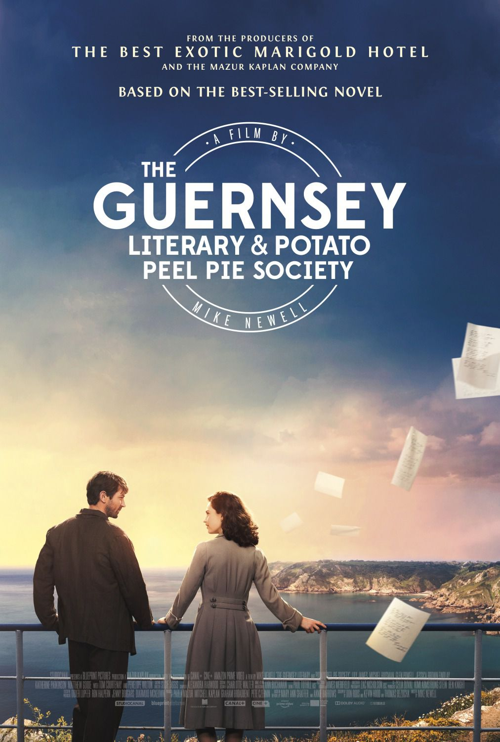 Guernsey Literary and Potato Peel Pie Society - Lily James, Jessica Brown Findlay, Matthew Goode, Michiel Huisman - poster 2018