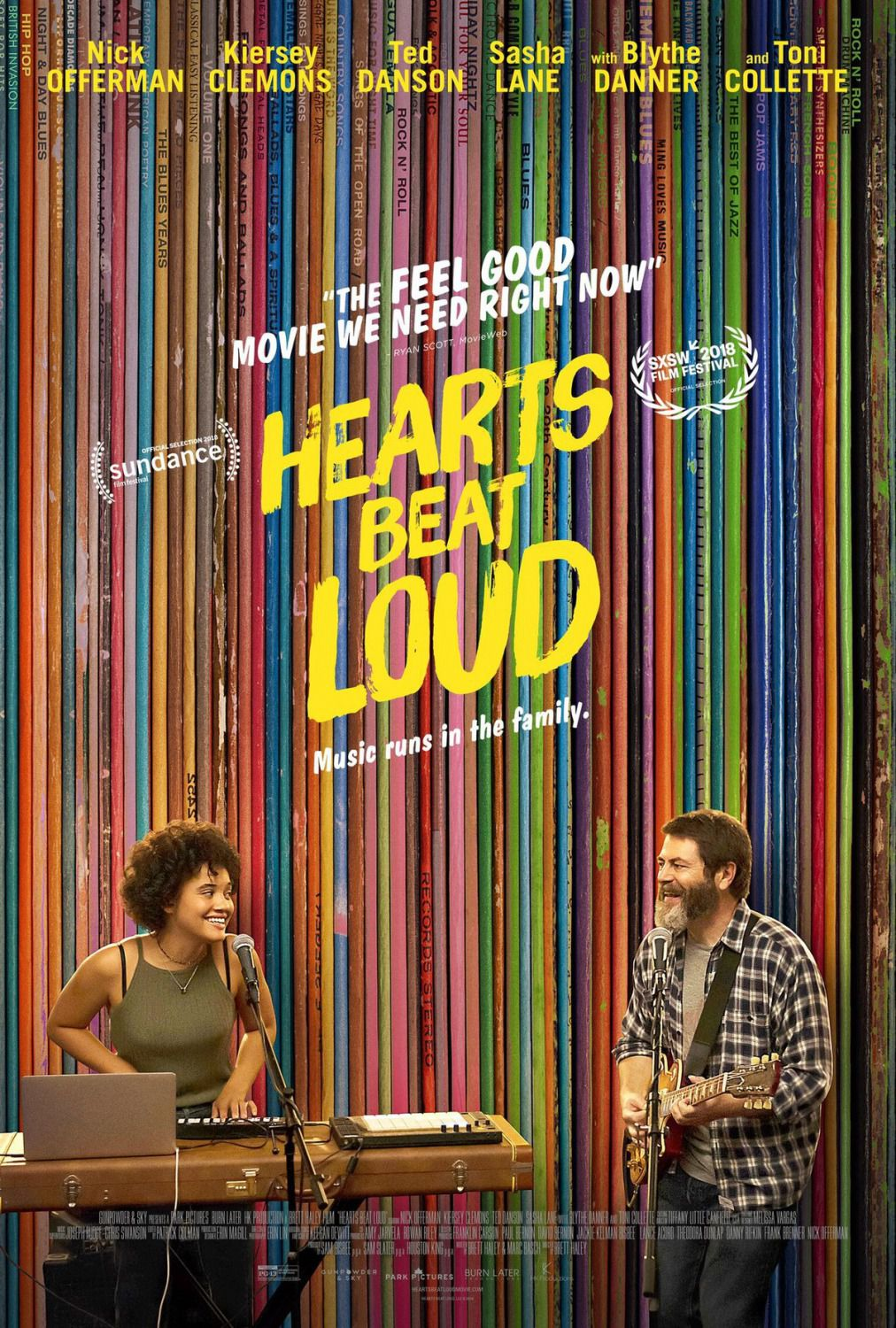 Hearts Beat Loud - Music runs in the Family - Cast: Kiersey Clemons, Nick Offerman, Ted Danson, Sasha Lane, Blythe Danner, Toni Collette 2018