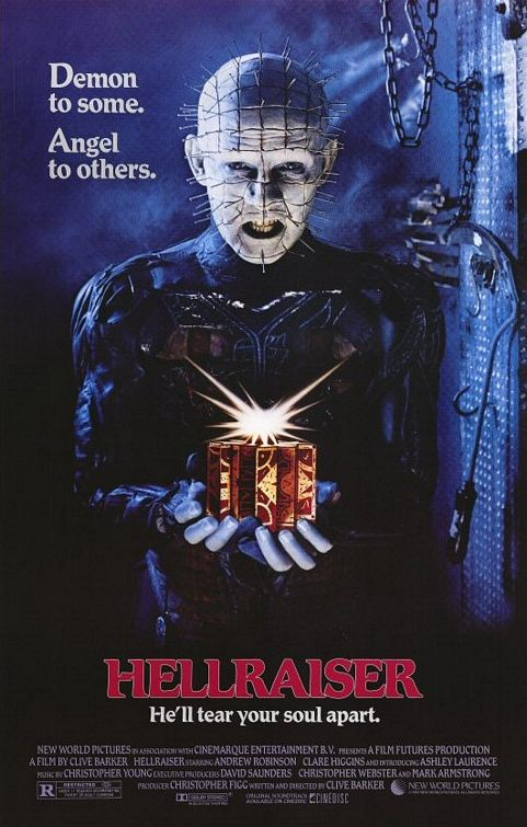 Hellraiser (1987) - horror film poster