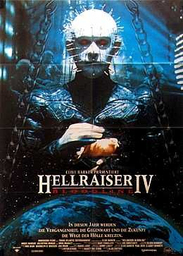 Hellraiser - Bloodline (1996) - horror film poster