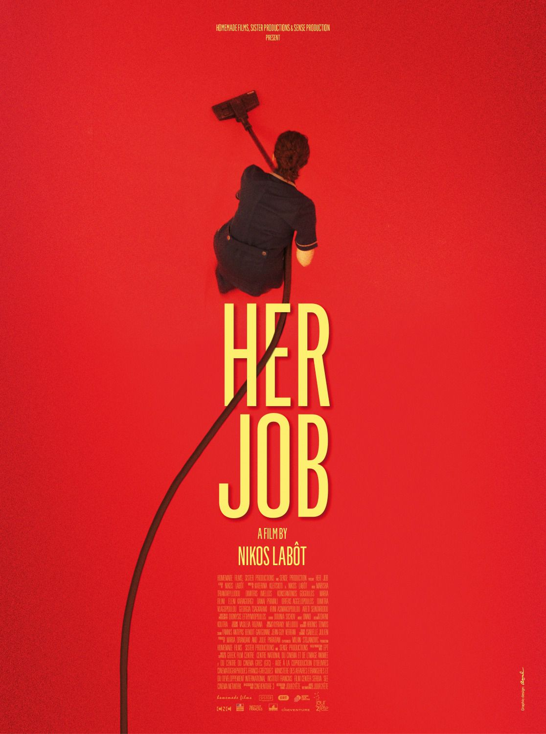 Her Job by Nikos Labot - film poster 2018  - colf - clear
